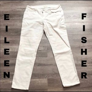 Eileen Fisher organic cotton midrise skinny jeans